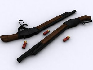 3d lever action winchester m1887